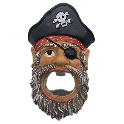 Weekinglo Souvenir Noruega Viking Pirata Imán de Nevera Abrebotellas B3D Resina Artesanía Hecha A Mano Turista Ciudad de Recuerdos de Recuerdos Carta de Refrigerador Etiqueta