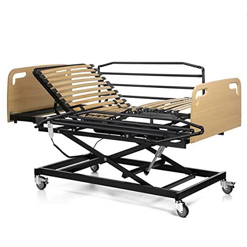 Ferlex - Cama articulada geriátrica con Carro Elevador (105x200, Barandillas + Cabecero y Piecero)