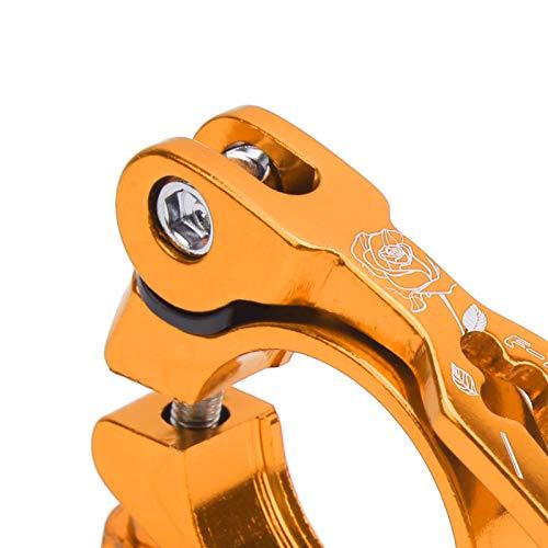 Clip de Tubo de Bicicleta, Clip de tija de sillín de liberación rápida Resistente a la corrosión con 1 Pieza para la mayoría de Abrazaderas de Tubo de Bicicleta para Ciclistas(Golden)