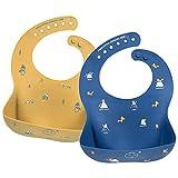 Babero impermeable de silicona para bebés para bebés y niños...