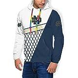 Notre Dame Men's Graphic Powerblend Fleece Hoodie Script Sweatshirt