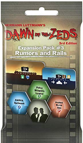 Victory Point Games Dawn of The Zeds: Expansion Pack 3 - Rumors and Rails