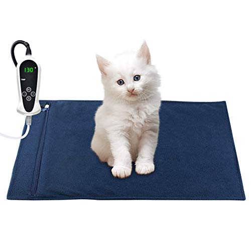 RIOGOO Pet Heating Pad, Electric Heating Pad for Dogs and Cats Indoor Warming Mat with Auto Power Off (S: 17.5'x14')