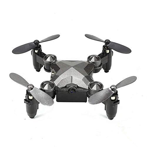 ZHCJH Reloj RC Drone Cuadricópteros Multirrotores Mini avión de Control Remoto Plegable (sin cámara) Rollo de rotación de 360 Grados, Modo sin Cabeza para Regalo de cumpleaños de Navidad para niños