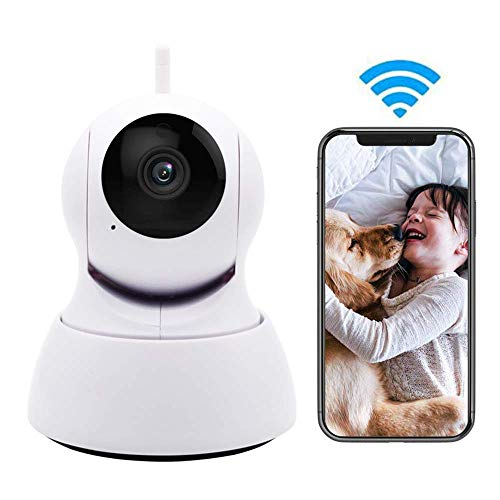 MYPNB Cámara para Mascotas Cámara LEEFISH IP de WiFi, Monitor inalámbrico, 720P HD Surveilance, por la Noche Detección del bebé/Perro/Gato de Movimiento Visión Audio de Dos vías de Pan/Tilt