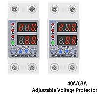 Xglai 40A / 63A 230Vレールは電圧を超える電圧および下の電圧保護装置プロテクターリレーオーバー電流保護 (Rated Current : 63A)