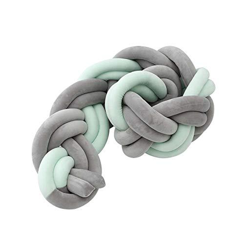LUUDE Intrecciato Handmade Wiege Stoßstange Baby Stoßstange Knot Braid Stoßdämpfer Kissen Dekokissen für Neugeborene Bed Sonno Bumper,Style5,3m