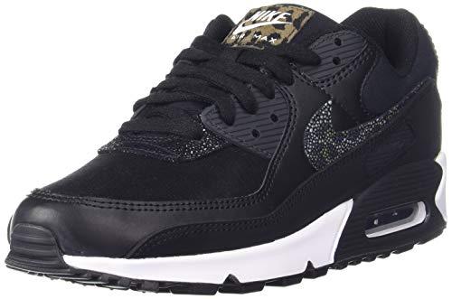 Nike W Air MAX 90 SE, Zapatillas para Correr Mujer, Black Black Off Noir White, 38 EU