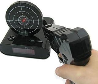 【 ピストル 型 目覚まし 時計 】 ガン アラーム クロック 録音 機能 搭載 デジタル 007 シューティング ゲーム SPY なりきり プレゼント インテリア MI-GUNCLO (ブラック)