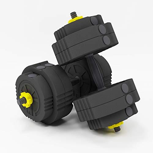 SogesHome Juego de Mancuernas Ajustables de 25 kg, Mancuernas de Fitness Antideslizantes para Entrenamiento físico en casa, Entrenamiento de musculación, SH-YZWD001-25