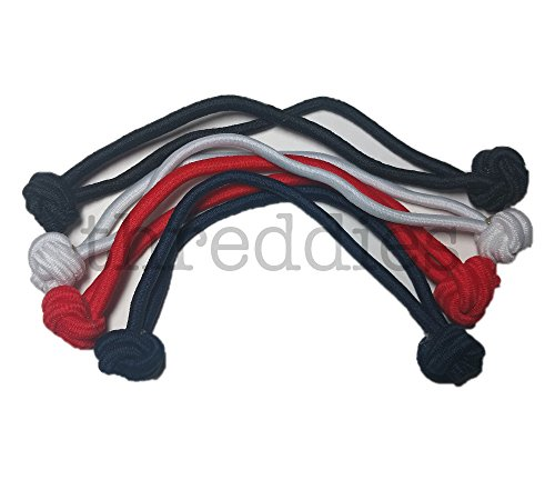 Jumbo Knotted Hair Tie Set of 4 // great for natural hair, dreadlocks and thick hair (Classic Colors)