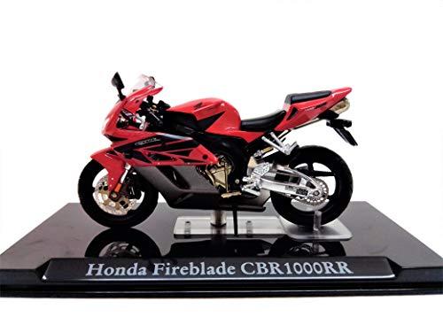 Atlas Modellino Moto Honda Fireblade CBR 1000 RR in Scala 1:24 con Teca in Plexiglass