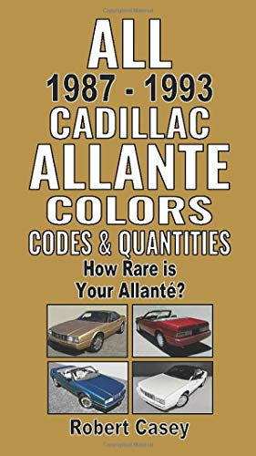 All 1987-1993 Cadillac Allante Colors, Codes & Quantities: How Rare is Your Allante?