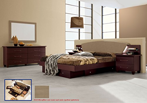 Camelgroup Italian Modern Contemporary Bedroom Set King Size Miss Italia, Italy.