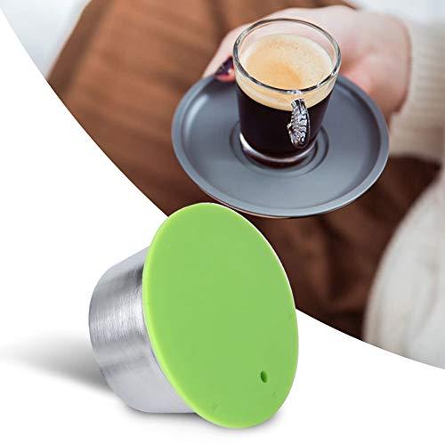 【𝐏𝐚𝐬𝐜𝐮𝐚】 Filtro de taza de cápsula de café recargable reutilizable de acero inoxidable apto para cafetera D-olce G-usto(Verde)