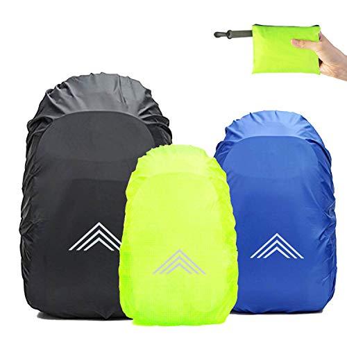 Frelaxy - Funda impermeable para mochilas escolares (15 – 90 L), con reflectores y correas antideslizantes en cruz para senderismo, camping, ciclismo, C - negro., XXL: 65L-90L