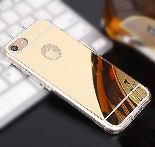 AAA&LIU Estuche para teléfono con Efecto Espejo para iPhone 12 11 Pro MAX 7 8 Plus 6s 5s Estuche para contraportada para iPhone XS MAX XR Estuche Plateado, Dorado, para iPhone 11 Pro