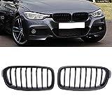 PENSUN Matte Black Front Grills Grille Kidney For BMW 3-Series F30 F35 12-16 (Matte Black, mate)