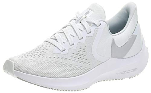 Nike Wmns Zoom Winflo 6, Zapatillas de Atletismo Mujer, Multicolor (White/Mtlc Platinum/Pure Platinum 100), 38.5 EU