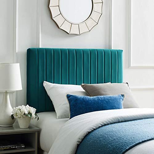 Modway - Cabecero de Cama de Terciopelo de Alto Rendimiento, Color Verde Azulado
