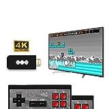 ISAKEN Consola De Juegos Retro, Consola portátil de Videojuegos HDMI HD Consola, Juegos clásicos incorporados 1400, Mini Controlador de Gamepad portátil USB