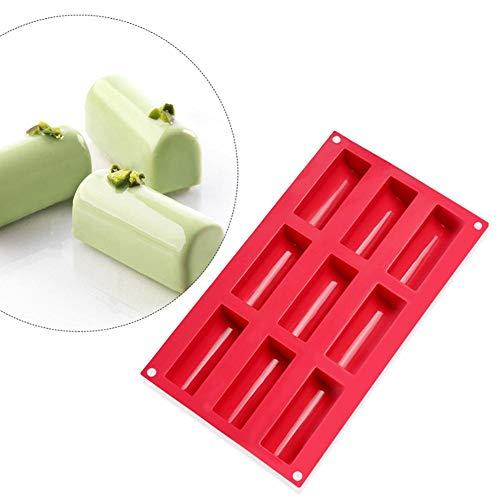 Siliconen cakevorm, non-stick chocolade snoep mousse mallen DIY bakken tools voor keuken, 11,81 x 6,89 x 1,38 inch