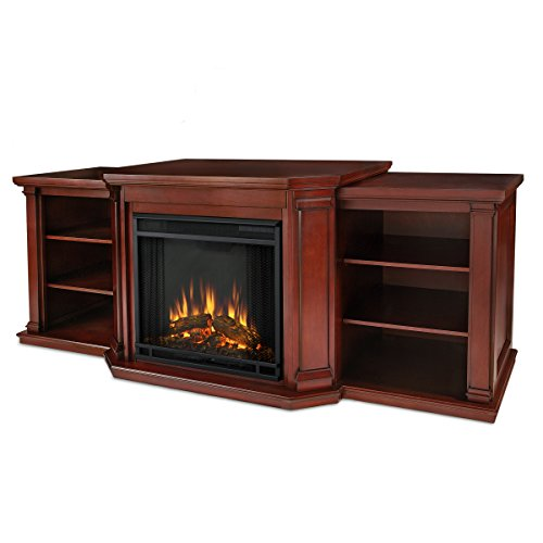 Real Flame Valmont Entertainment Center Electric Fireplace in Dark...