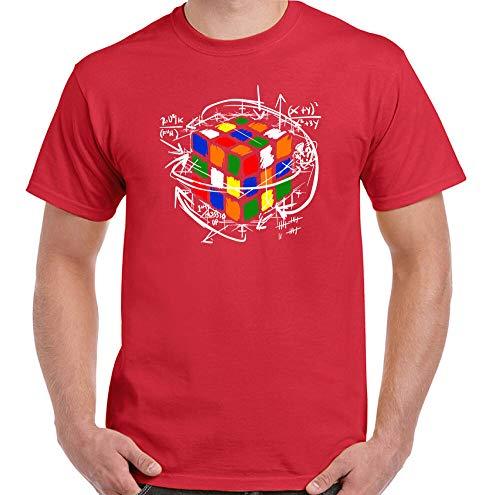 LuWeiHong Rubik'S Cube T Shirt Mens Funny Retro Rubix 80's Sheldon Puzzle Cooper Equations