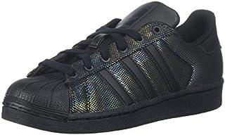 adidas Originals Kids' Superstar Black Iridescent J Running Shoe