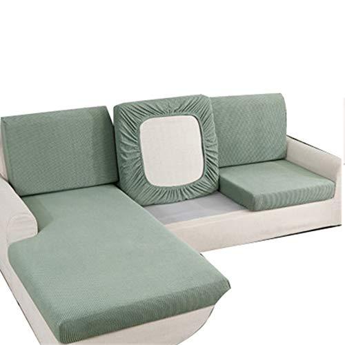 QYQS Funda Elastica Sofa Chaise Longue,Sofá con Funda Deslizante, Mini Sofá, Desmontaje Conveniente, Ajuste Ceñido Y Fácil Cuidado, Funda De Sofá Elástica(Size:Código L Regular)