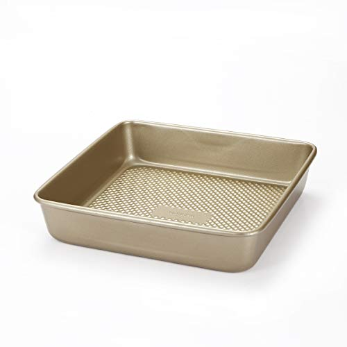 MONFISH Square Brownie Cake Pan - Deep 9 inch bread Pan Heavy Duty Carbon Steel Bakeware Textured Finish - Non-Stick Baking Tray