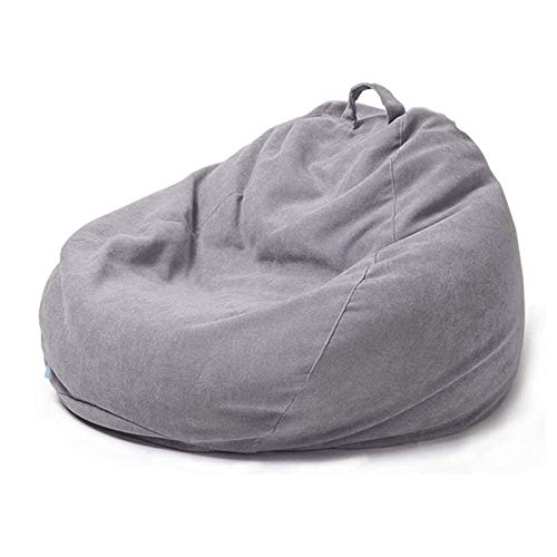 CHENNA Large Bean Bag Chair Classic Lazy Lounger Bean Bag Storage Chair for Adults and Kids for Home Garden Lounge Living Room Gray