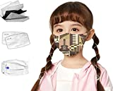 Kids Face Mask Ages 4-12 Childrens Breathable Safety Toddler Face Masks,Creative Graphic of Vintage Musical Instruments Guitar Piano Drums