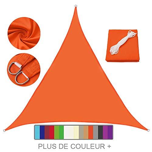 Lanbent Voile d'ombrage Impermeable Triangulaire, 95% Anti UV Abri Voiture de Pergola pour Patio Extérieur, Jardin, Serre, Terrasse et Camping Toile d'ombrage