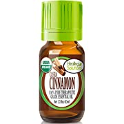 Organic Cinnamon Cassia Essential Oil (100% Pure - USDA Certified Organic) Best Therapeutic Grade Essential Oil - 10ml