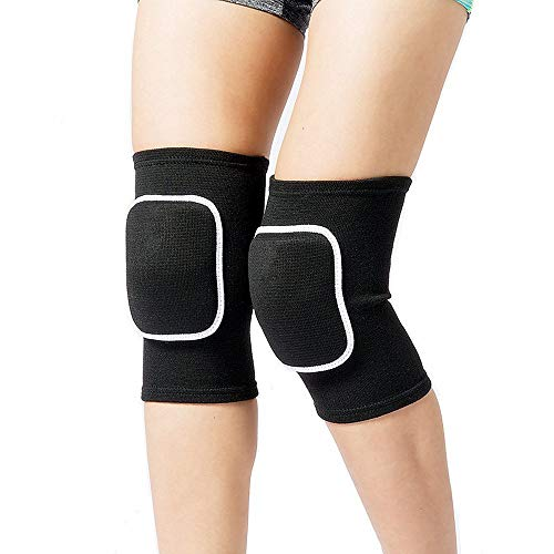 Lion Palace Best Soft Knee Pads for Dancers-Biking Football Soccer Tennis Skating Workout Climbing Exercise Work Yoga Pole Dance Volleyball Knee Pads for Women Girls Boys Child (Black, M)
