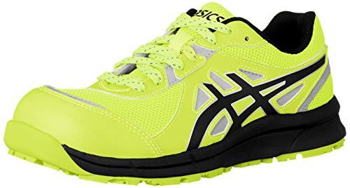 [アシックス] ワーキング 安全靴/作業靴 ウィンジョブ CP206 Hi-Vis JSAA A種先芯 耐滑ソール 高視認 αGEL搭載 フラッシュイエロー/ブラック 24.5