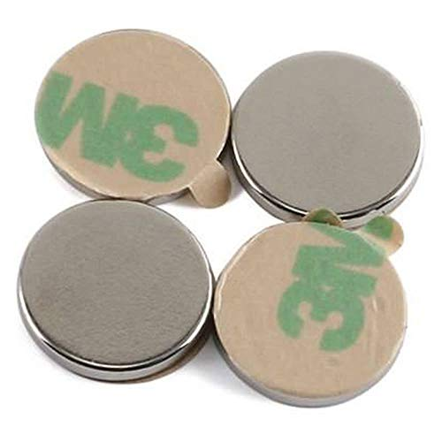 10 Stück selbstklebende Neodym Magnete N45 Rund 20x1mm Paarweise angeordnet (5 Paare)