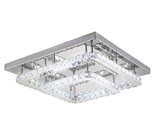 Dimmerabile LED plafoniera lampadario luce colore regolabile bianco caldo neutro freddo telecomando 50x50cm Lewima Voltarus