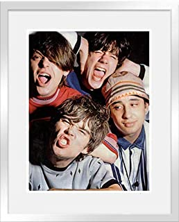 Stick It On Your Wall The Stone Roses - Group Pic (Silver Frame) Framed Mini Poster - 44x34cm