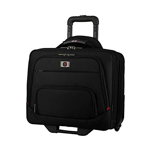 Wenger 605978 SPHERIA 16' Wheeled Laptop Case, Smooth Glide 2.5-inch wheels with an Overnight Compartment in Black