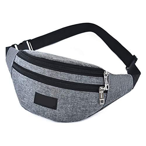 JTKDL Bolso de la Cintura, Bolsa de cinturón de Tela Oxford, Multifunción Bum Hip para al Aire Libre, Viajes, Camping, Compras (Color : Gray)