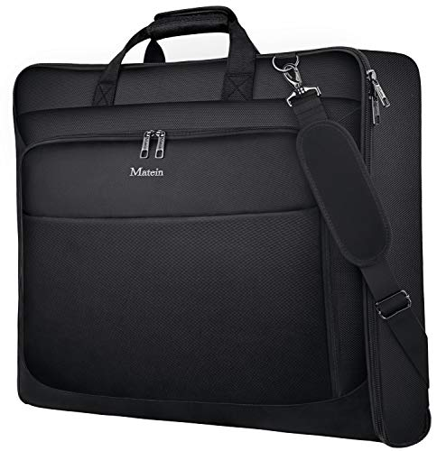 Garment Bag for Travel, Large Carry on Garment Bags with Strap for...