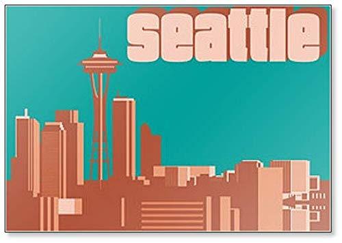 Seattle Washington Skyline imán panorámico para nevera
