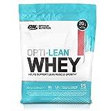Optimum Nutrition Opti-Lean- Diät Eiweißpulver (mit CLA, Grüntee-Extrakt, und L-Karnitine, Fettarmer Protein Shake von ON) Strawberry, 15 Portionen, 390g