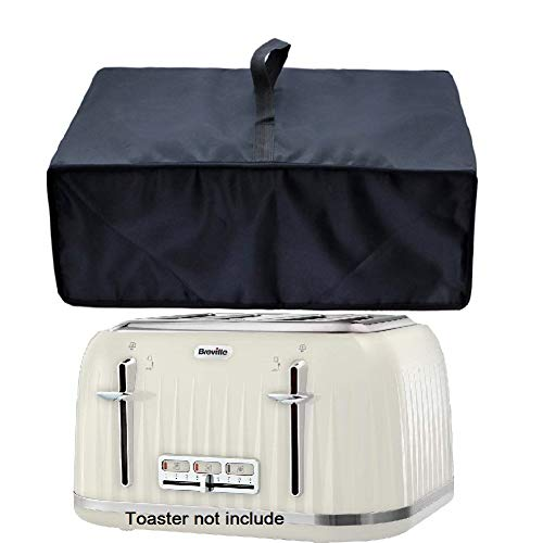 Orchidtent 4 Slice Toaster Covers,Heavy Duty Toaster Cover,Waterproof Kitchen Appliances Cover,Bread Oven Dust-Proof Cover for Breville VTT702 VTT476 Impressions 4 Since Toaster-Black (4)