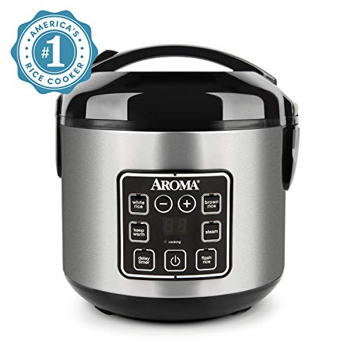 Aroma Housewares ARC-914SBD Digital Cool-Touch Rice Cooker and Food Steamer with Stainless Steel Exterior, Silver