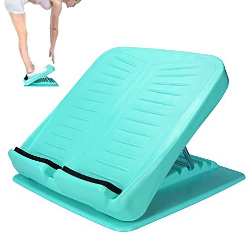 JADE KIT Calf Stretcher Slant Board Adjustable 4 Level Anti Slip Stretch Board Leg Foot Balancing Fitness Pedal Wedge Stretch for Heel, Hamstring, Achilles, Leg Calves, Blue (330 lb Capacity)
