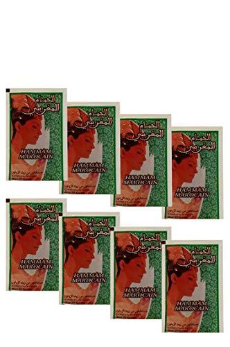 8er pack Marokkanische schwarze Seife Parfümfrei aus reinem Olivenöl 200 Gramm (8 x 25 g) | Hamam Seife Paste ORIGINAL aus Marokko | Savon Noir Natürliches Peeling für Gesicht Haut und Haare