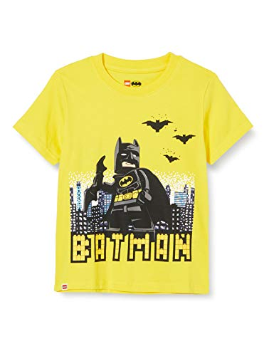 LEGO Jungen Batman T-Shirt, Gelb (Yellow 222), (Herstellergröße: 122)